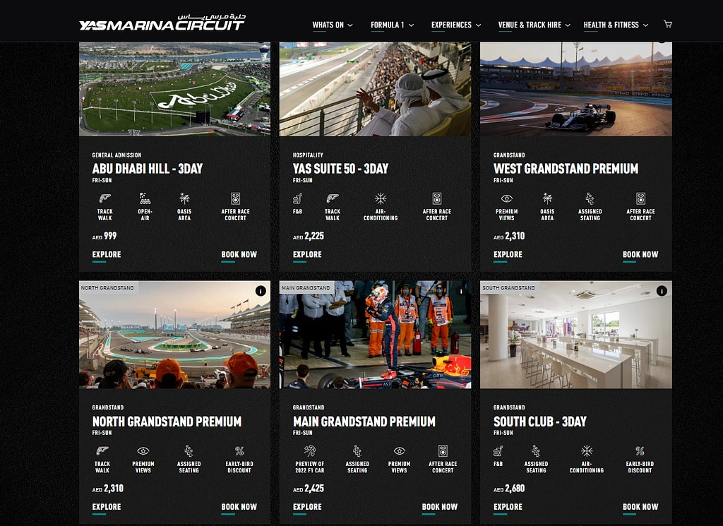Dubai GP 2021, F1 tickets