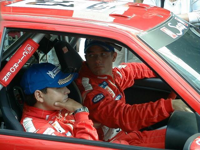 Daniel Elena and Sebastien Loeb