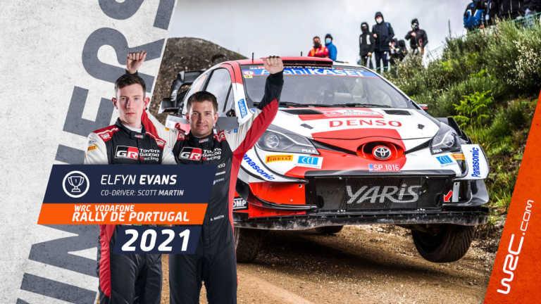 Elfyn Evans wins Rally de Portugal