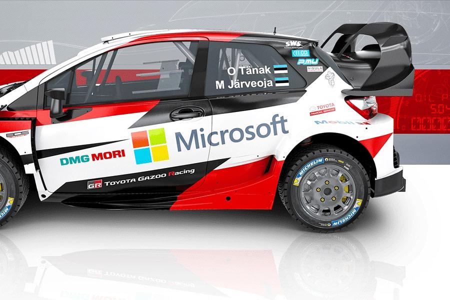 Toyota WRC car